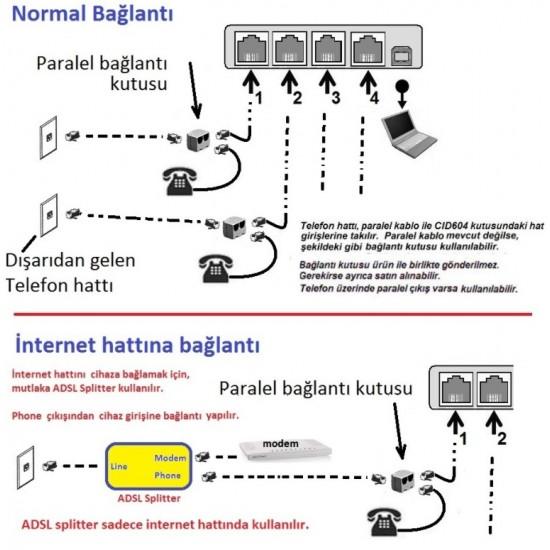 ARAYAN NUMARA GÖSTEREN CİHAZ -4 HATLI (CALLER ID)